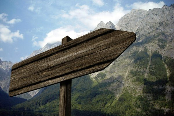 directory, signposts, mountain