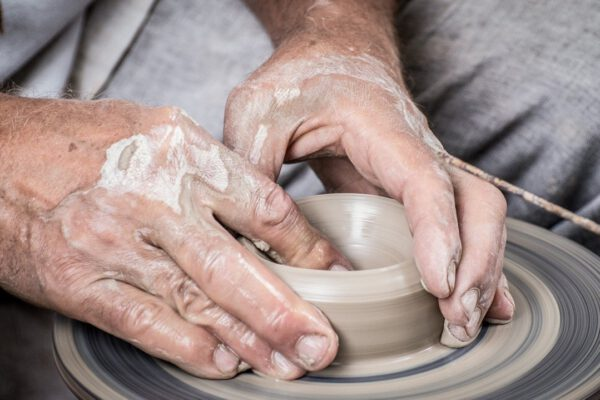 hands, clay, potter